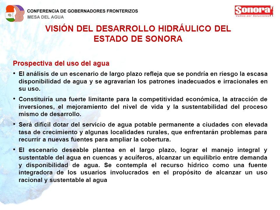VISIÓN DEL DESARROLLO HIDRÁULICO DEL ESTADO DE SONORA