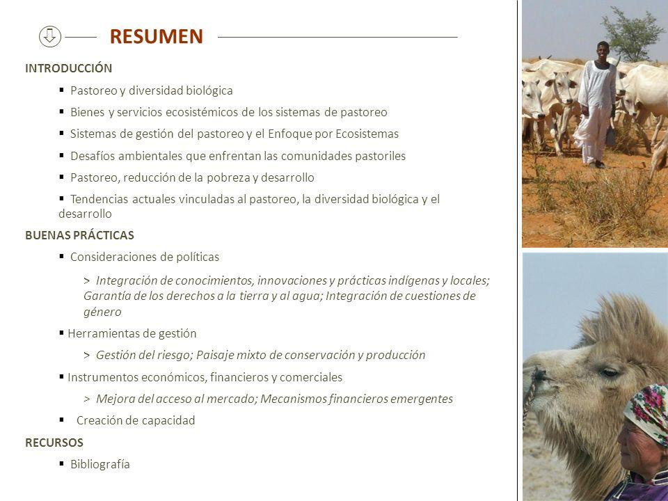 RESUMEN  INTRODUCCIÓN Pastoreo y diversidad biológica