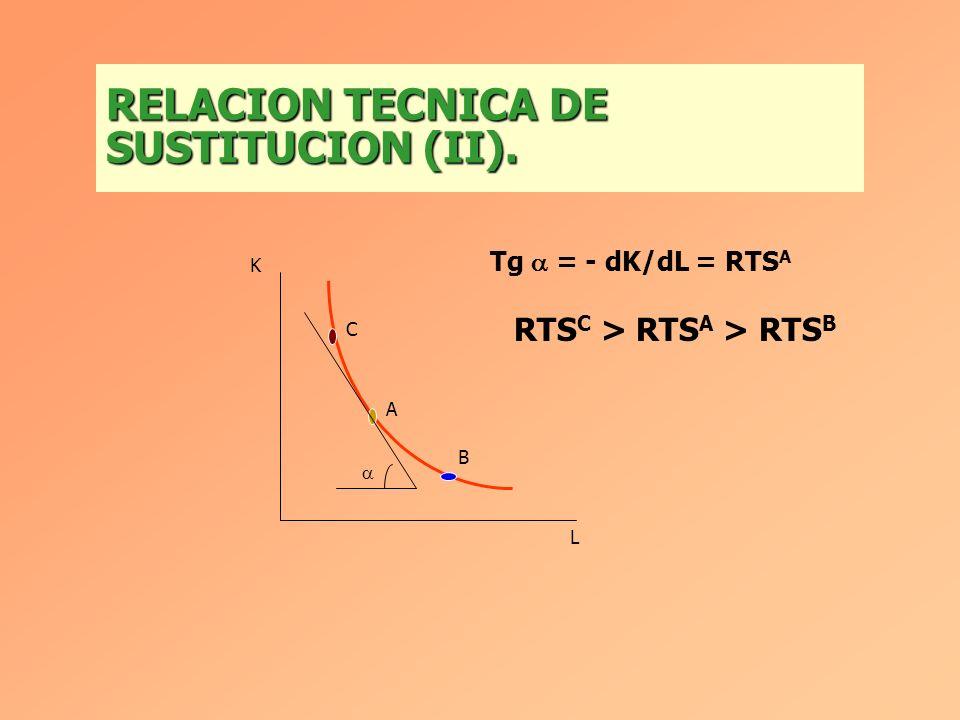 RELACION TECNICA DE SUSTITUCION (II).