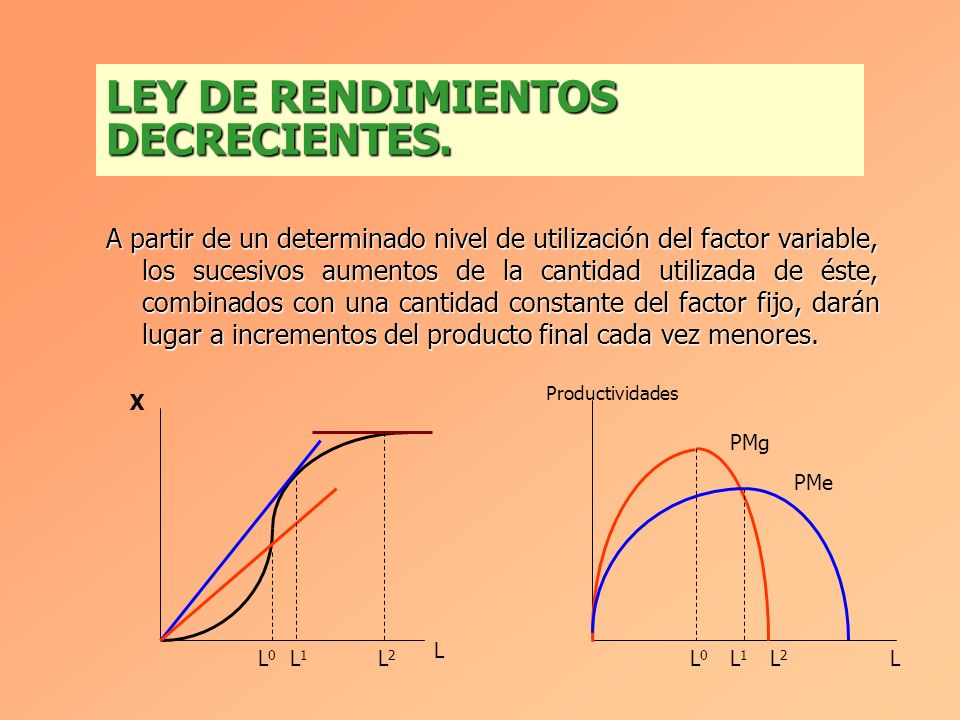 LEY DE RENDIMIENTOS DECRECIENTES.