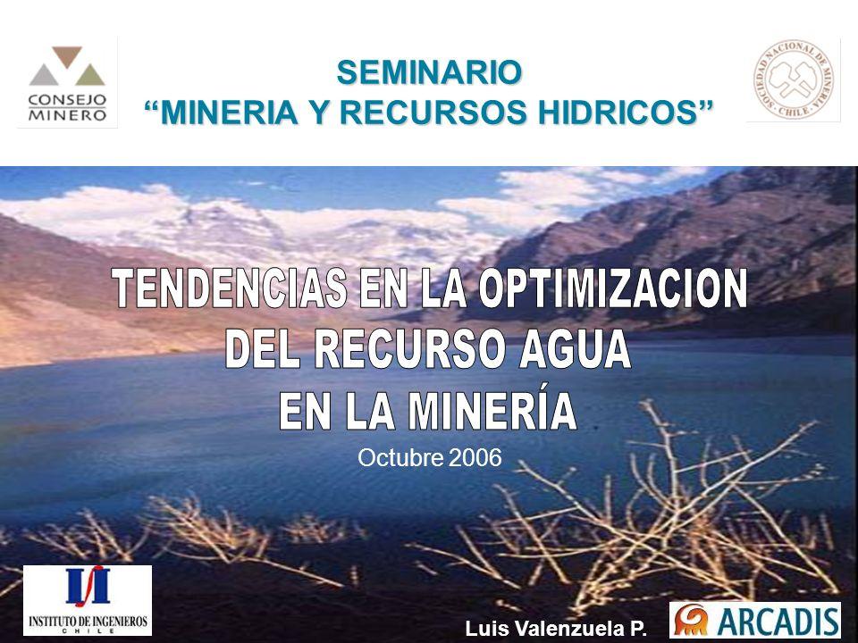 MINERIA Y RECURSOS HIDRICOS