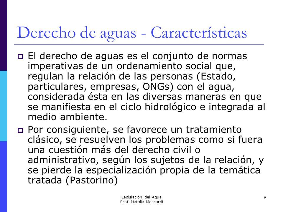 Derecho de aguas - Características