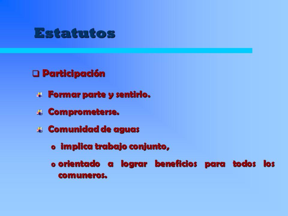 Organizaciones de Usuarios de Aguas