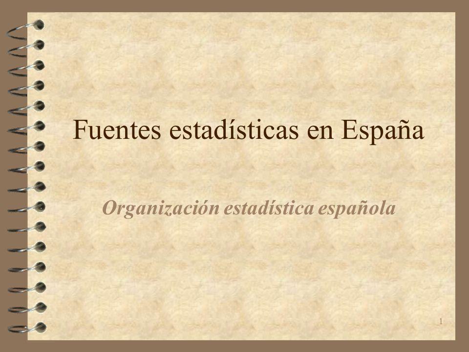 Fuentes estadísticas en España