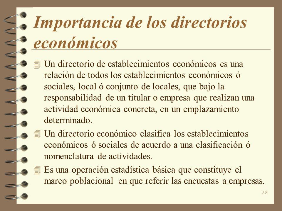 Importancia de los directorios económicos