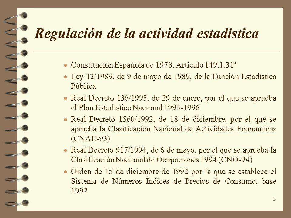 Regulación de la actividad estadística