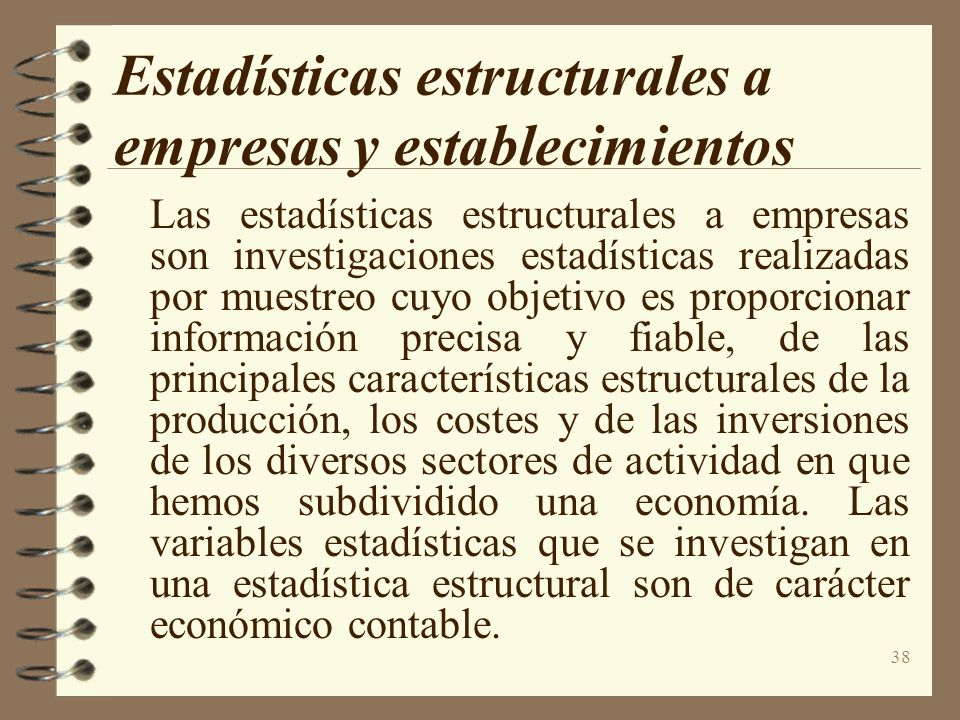 Estadísticas estructurales a empresas y establecimientos