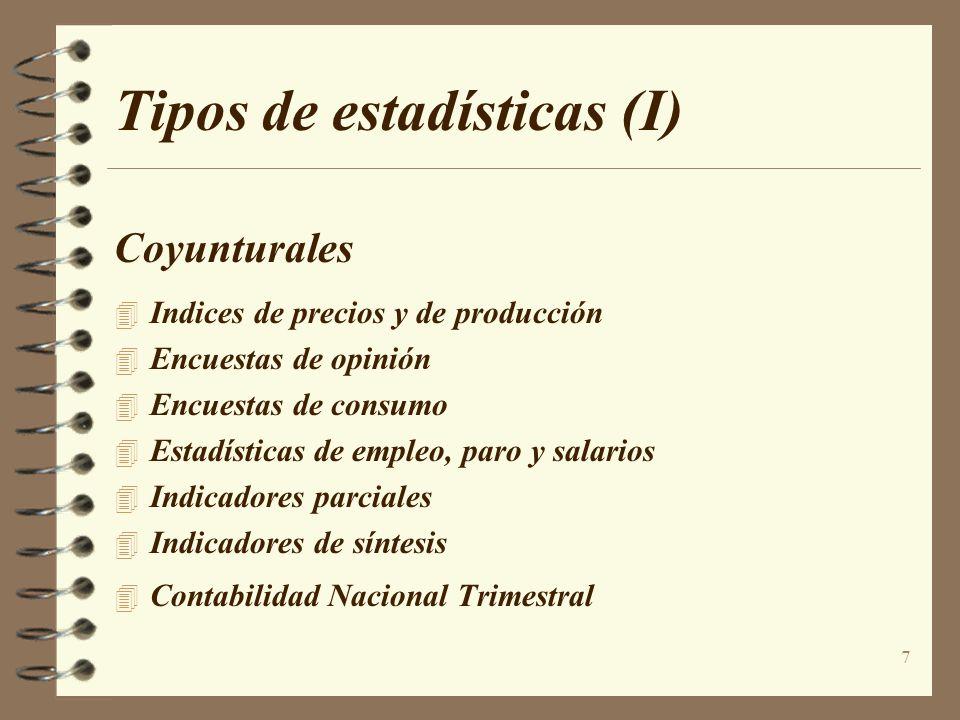 Tipos de estadísticas (I)