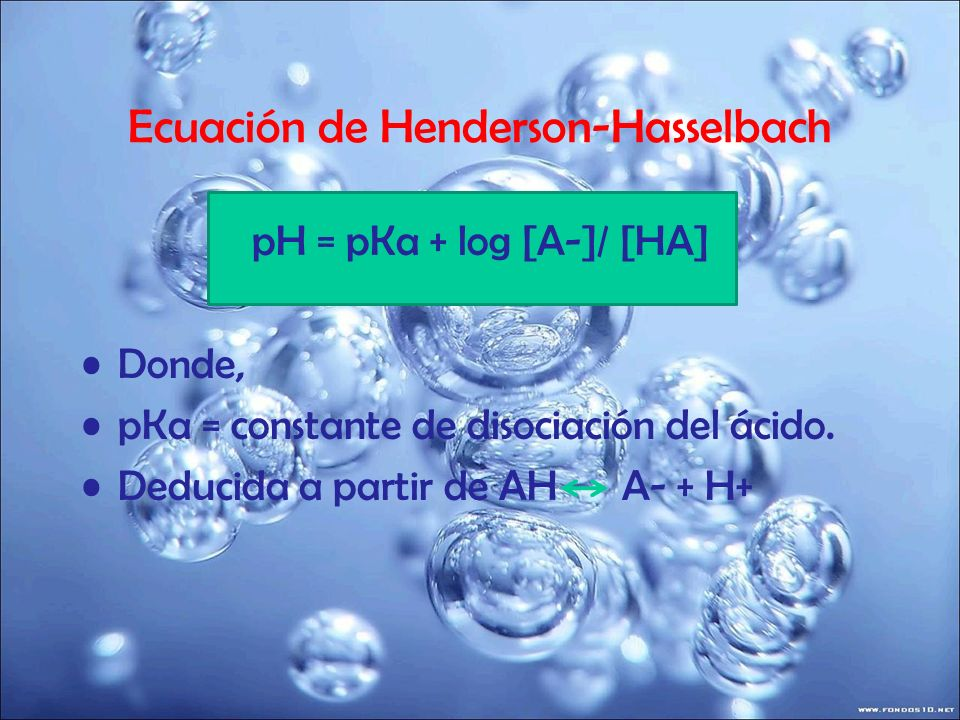 Ecuación de Henderson-Hasselbach