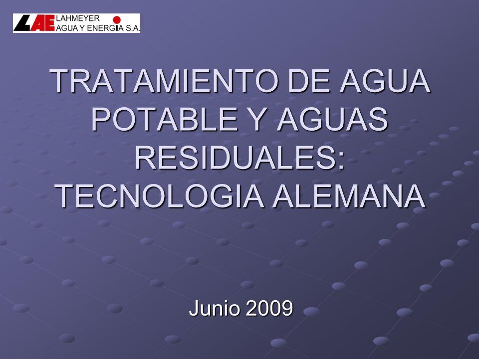TRATAMIENTO DE AGUA POTABLE Y AGUAS RESIDUALES: TECNOLOGIA ALEMANA