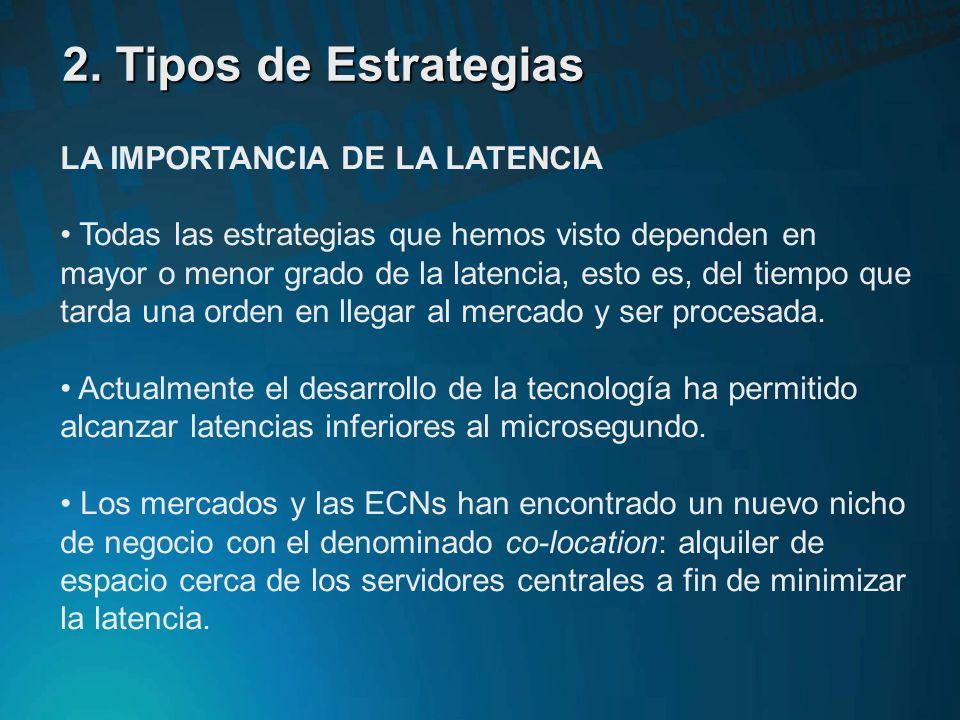 2. Tipos de Estrategias LA IMPORTANCIA DE LA LATENCIA