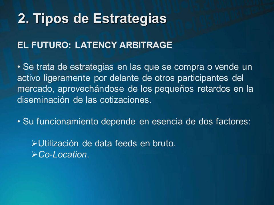 2. Tipos de Estrategias EL FUTURO: LATENCY ARBITRAGE