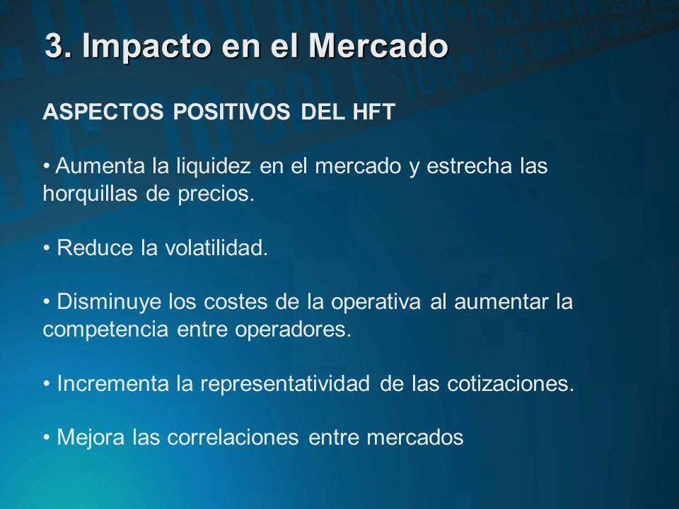 3. Impacto en el Mercado ASPECTOS POSITIVOS DEL HFT