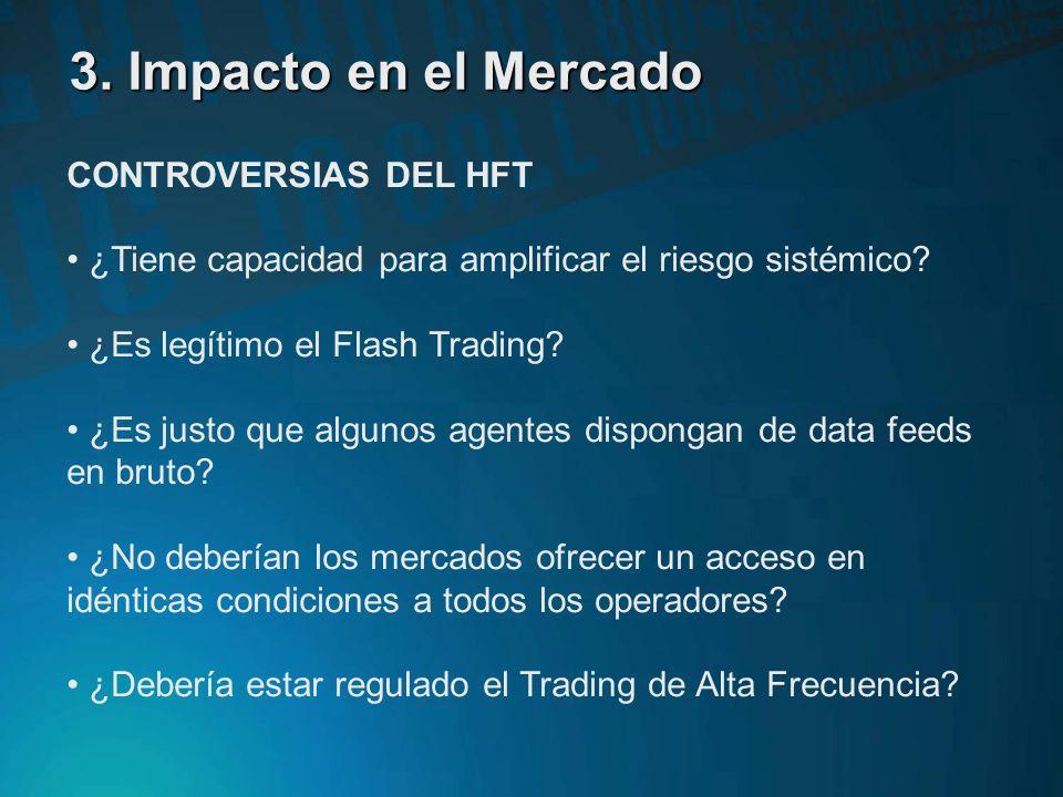 3. Impacto en el Mercado CONTROVERSIAS DEL HFT