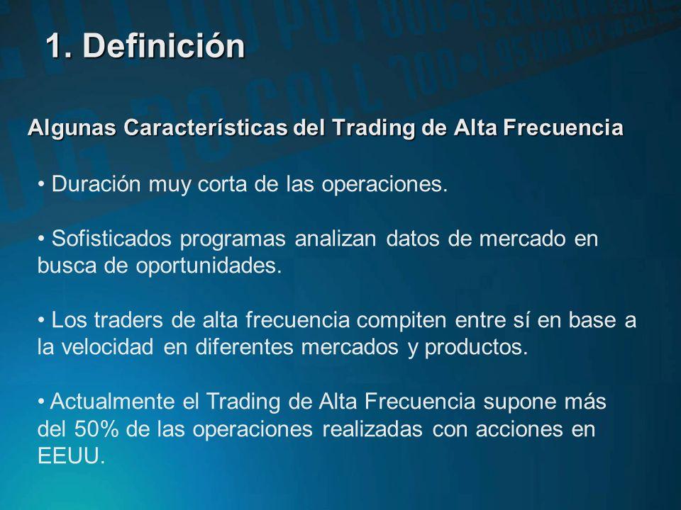 Algunas Características del Trading de Alta Frecuencia