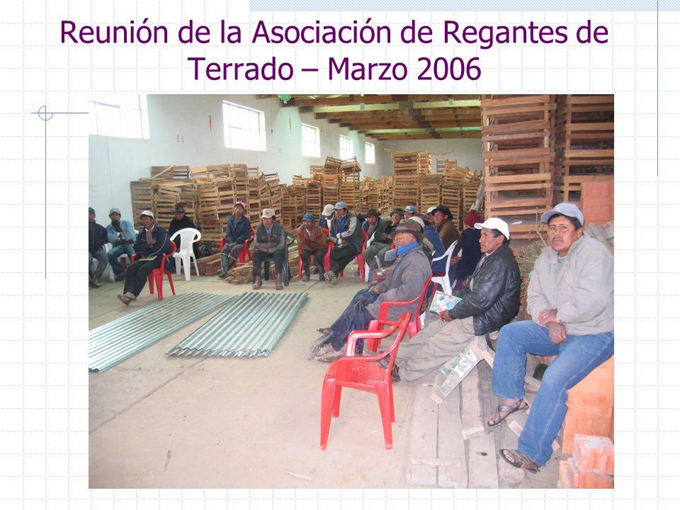 Reunión de la Asociación de Regantes de Terrado – Marzo 2006