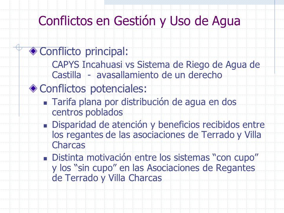 Conflictos en Gestión y Uso de Agua