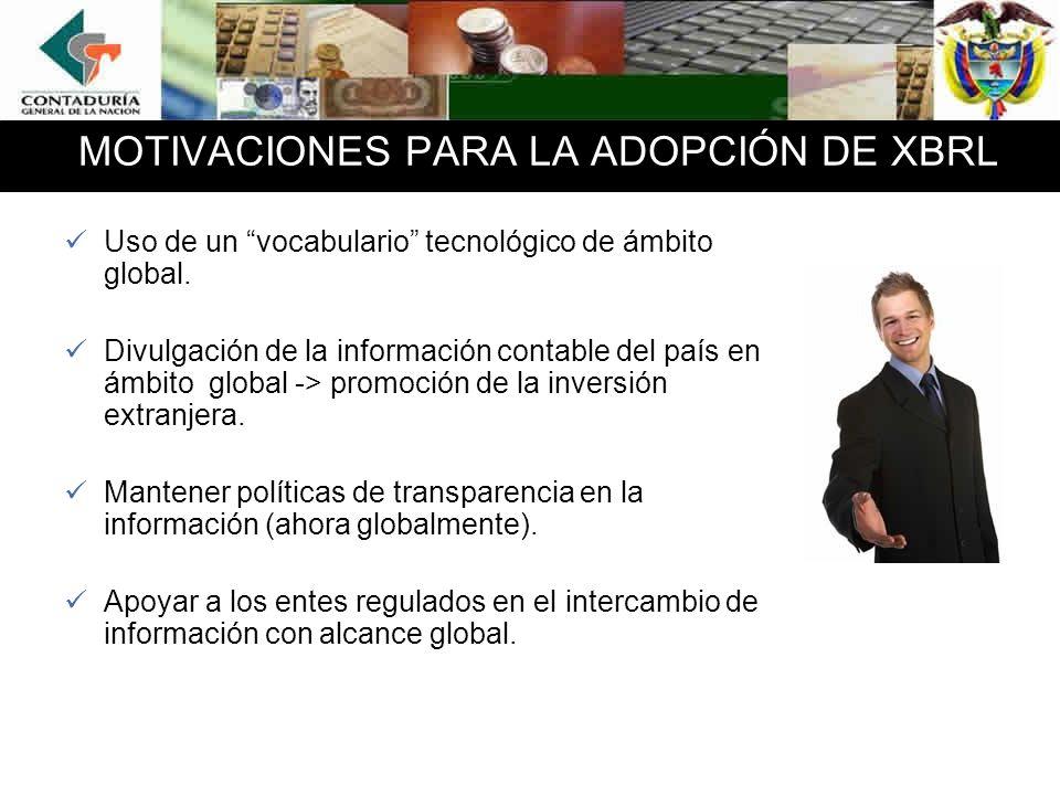 MOTIVACIONES PARA LA ADOPCIÓN DE XBRL