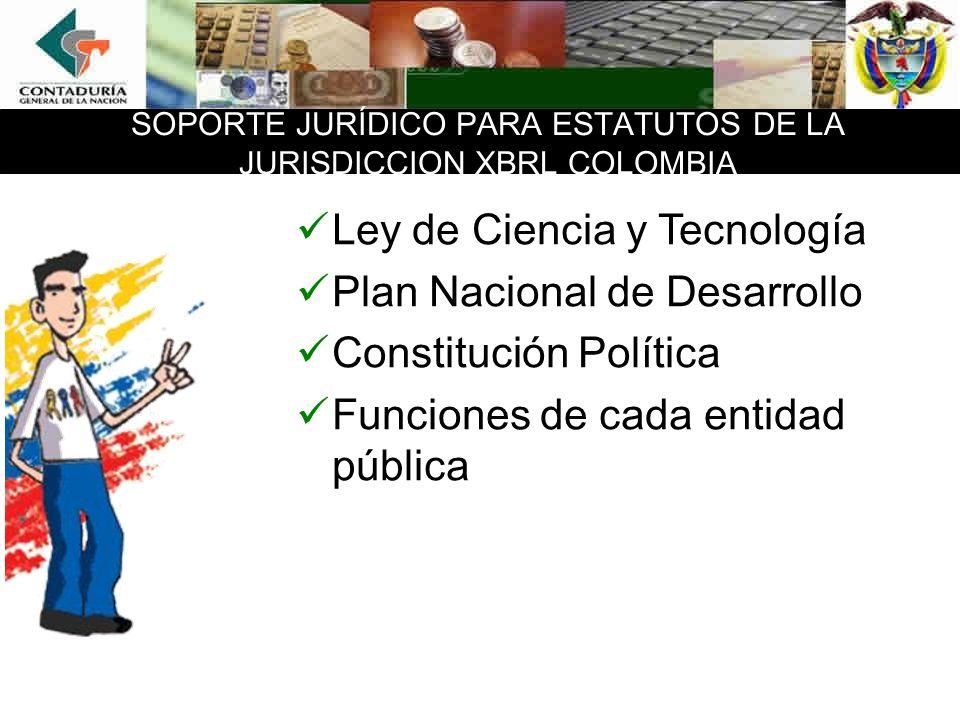 SOPORTE JURÍDICO PARA ESTATUTOS DE LA JURISDICCION XBRL COLOMBIA