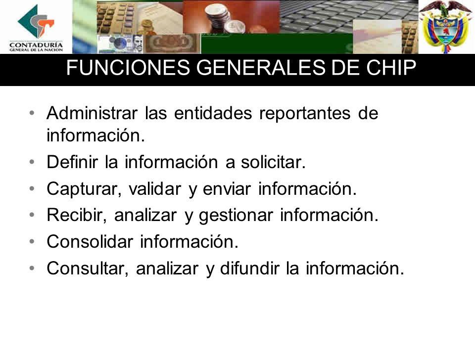 FUNCIONES GENERALES DE CHIP