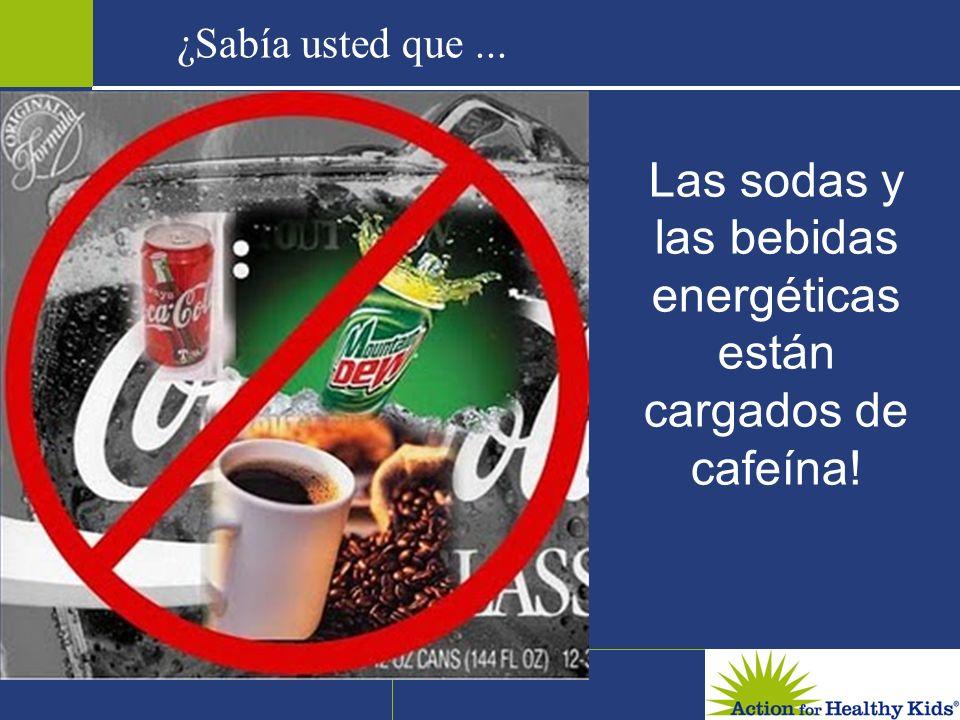 Las sodas y las bebidas energéticas están cargados de cafeína!