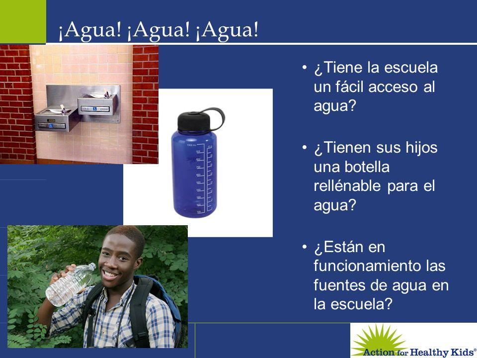¡Agua! ¡Agua! ¡Agua! ¿Tiene la escuela un fácil acceso al agua
