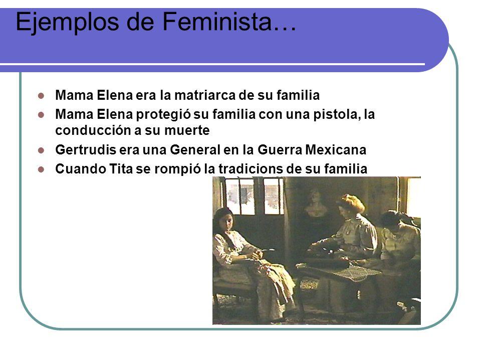 Ejemplos de Feminista…