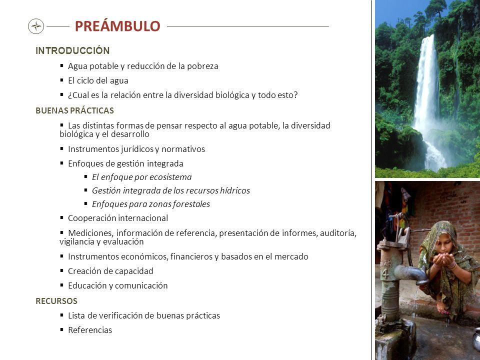 PREÁMBULO  INTRODUCCIÓN Agua potable y reducción de la pobreza