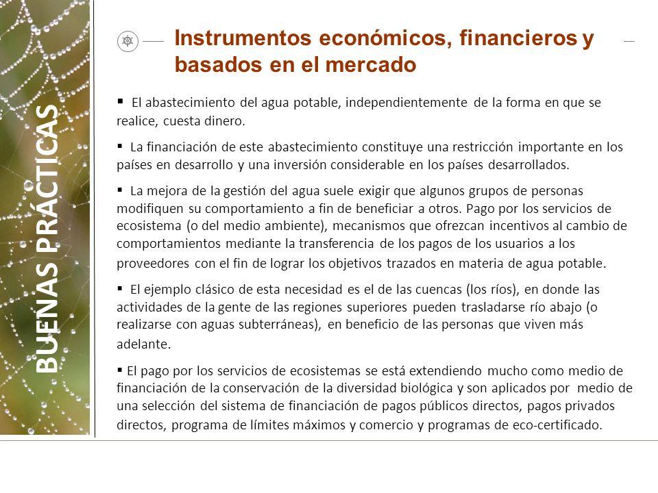 Instrumentos económicos, financieros y basados en el mercado