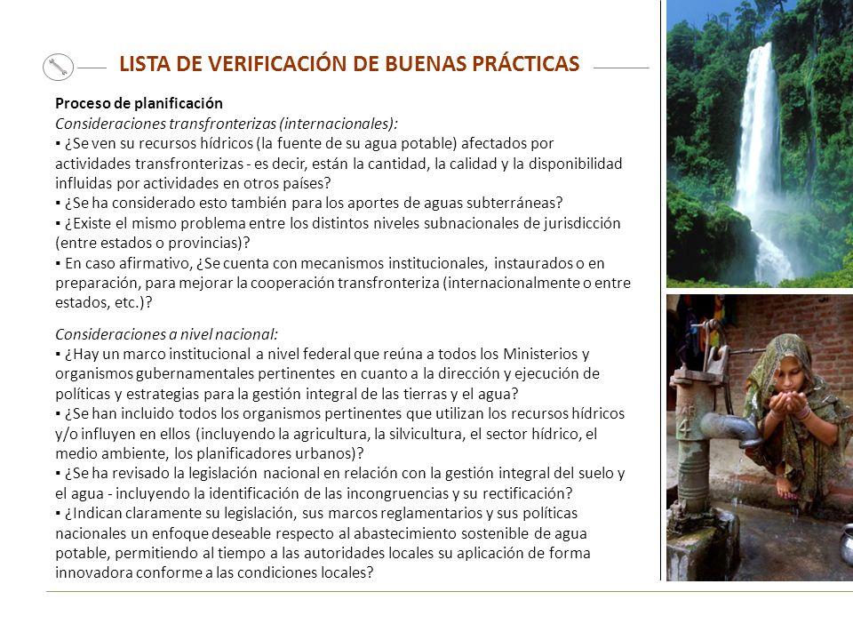 LISTA DE VERIFICACIÓN DE BUENAS PRÁCTICAS