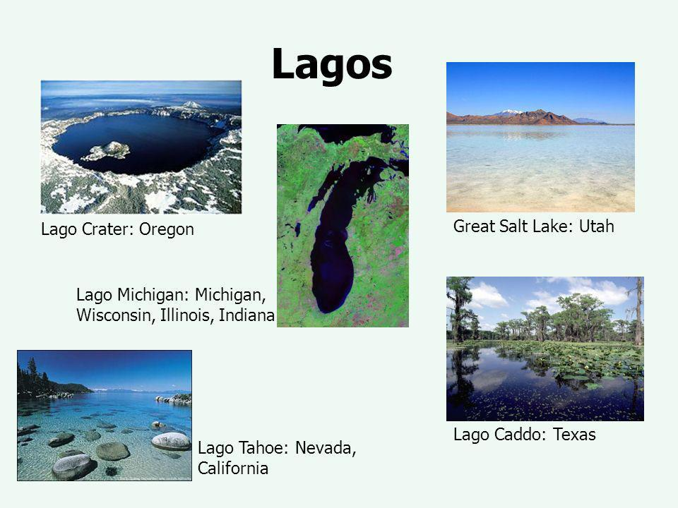 Lagos Great Salt Lake: Utah Lago Crater: Oregon