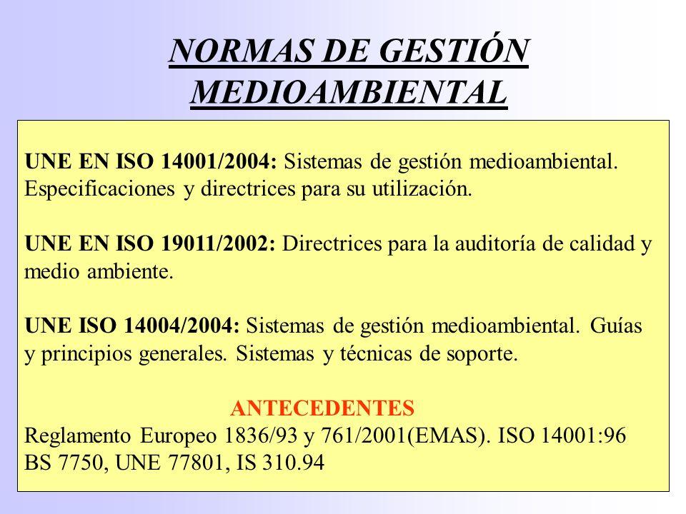 NORMAS DE GESTIÓN MEDIOAMBIENTAL
