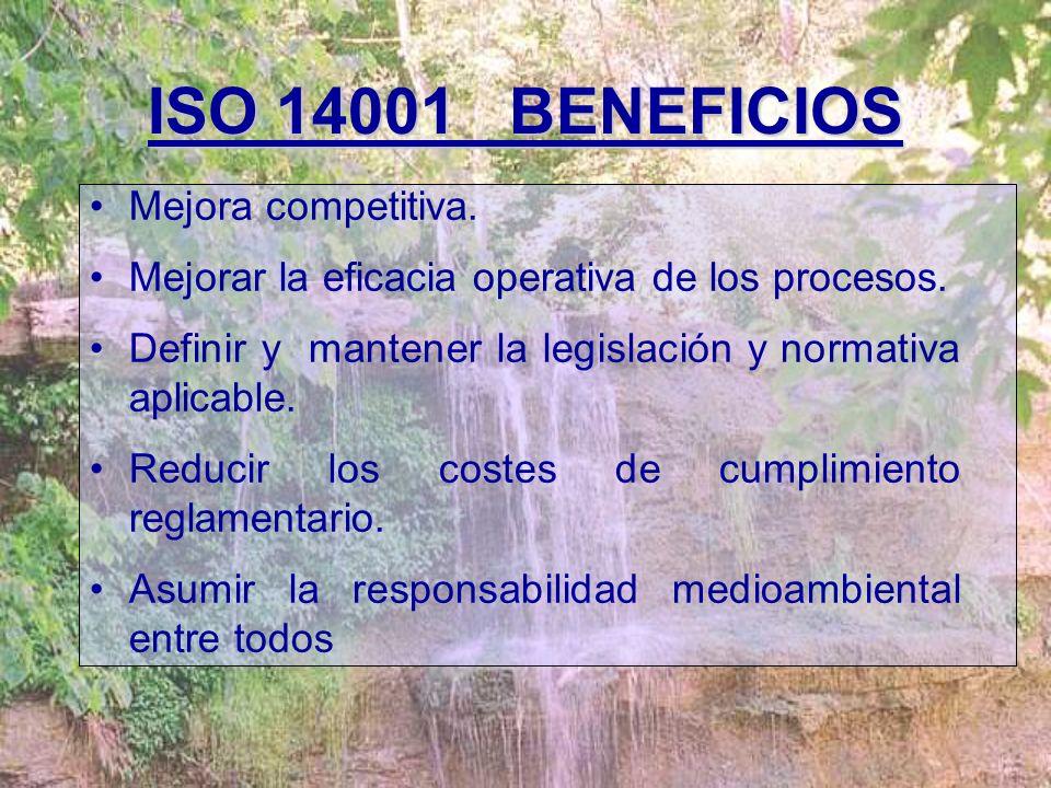 ISO 14001 BENEFICIOS Mejora competitiva.