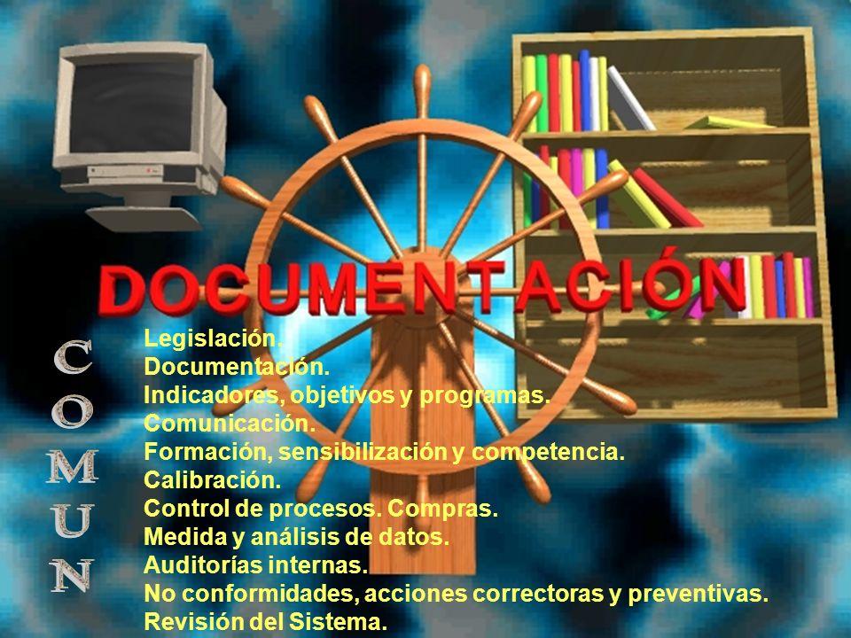 COMUN Legislación. Documentación. Indicadores, objetivos y programas.