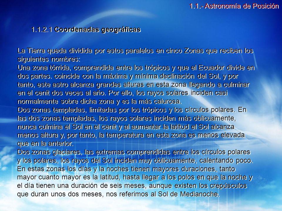 1.1.- Astronomía de Posición