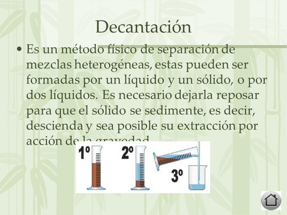 Decantación