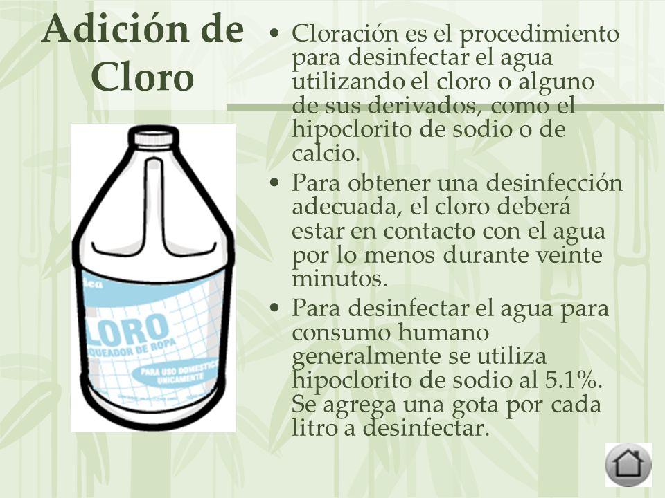 Adición de Cloro