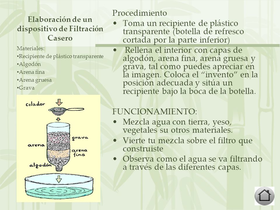Elaboración de un dispositivo de Filtración Casero