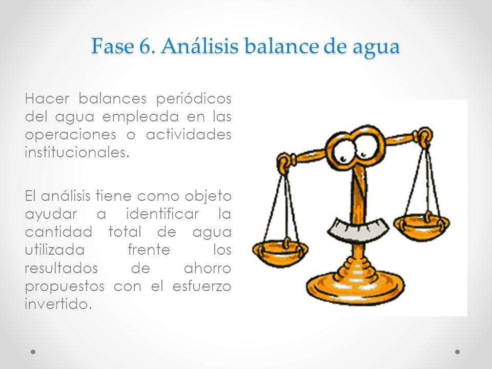 Fase 6. Análisis balance de agua