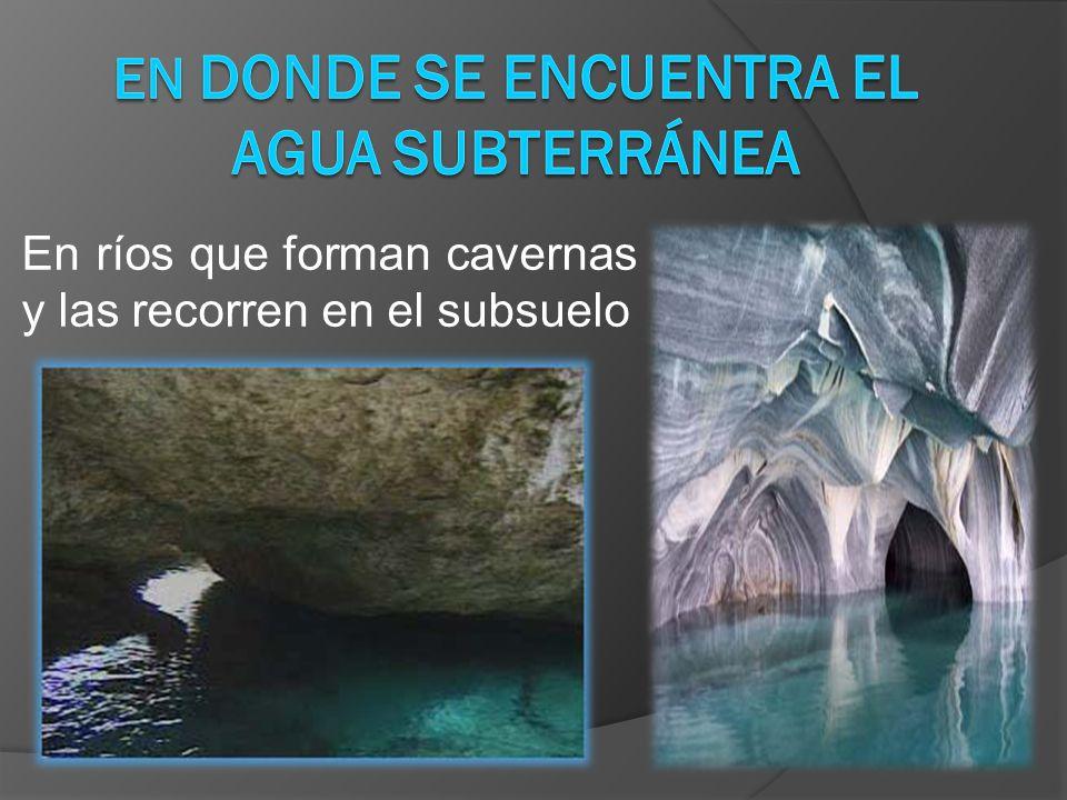 En donde se encuentra el agua subterránea