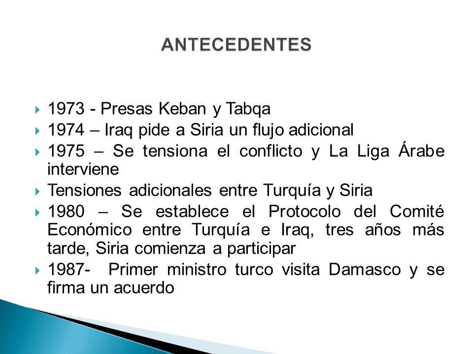 ANTECEDENTES 1973 - Presas Keban y Tabqa