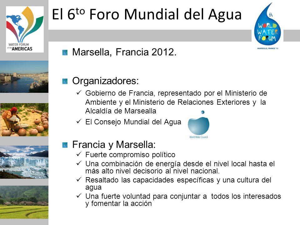 El 6to Foro Mundial del Agua