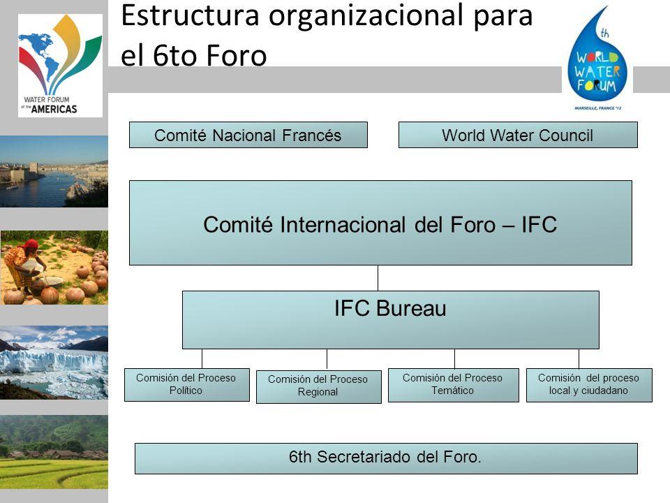 Estructura organizacional para el 6to Foro