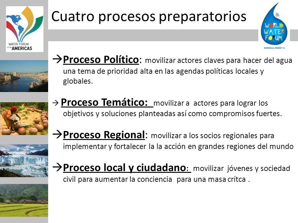 Cuatro procesos preparatorios