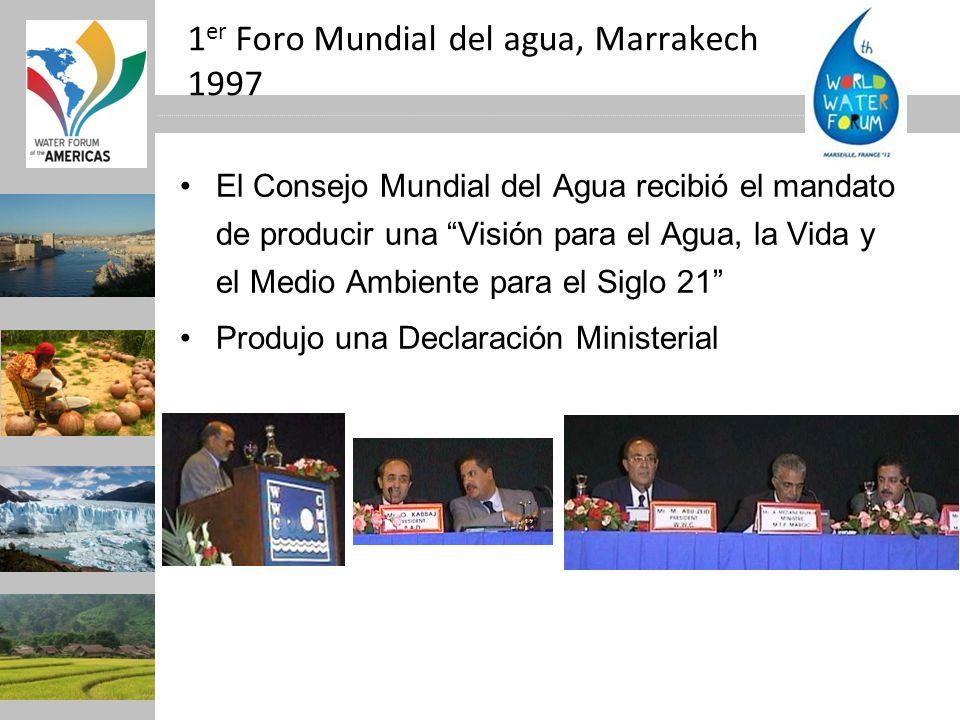 1er Foro Mundial del agua, Marrakech 1997