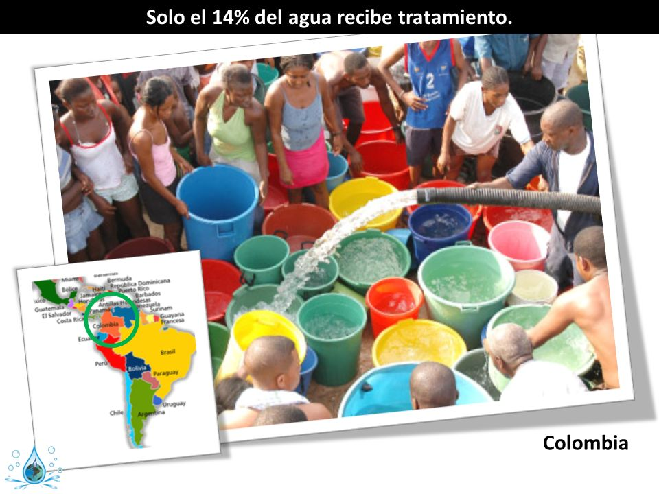 Solo el 14% del agua recibe tratamiento.