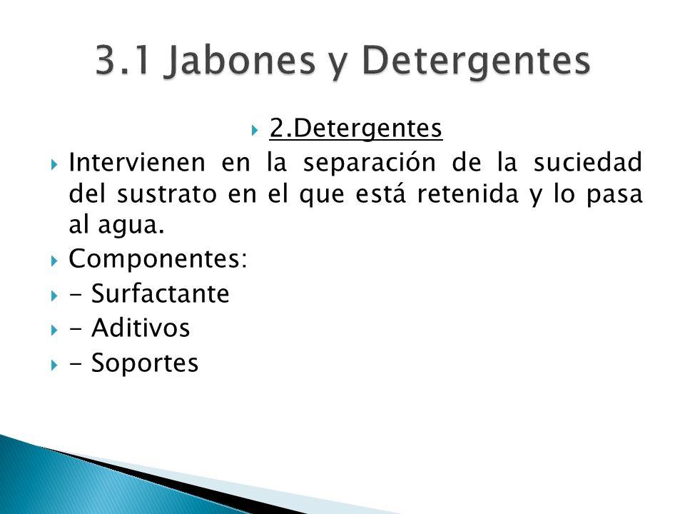 3.1 Jabones y Detergentes 2.Detergentes
