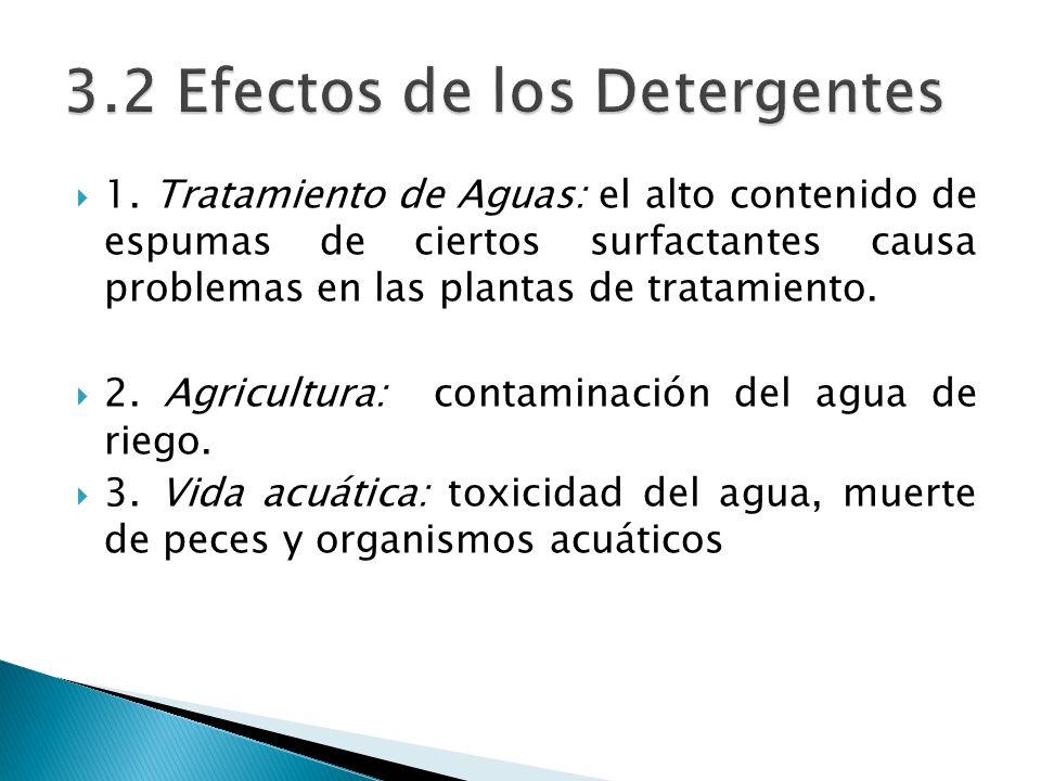 3.2 Efectos de los Detergentes