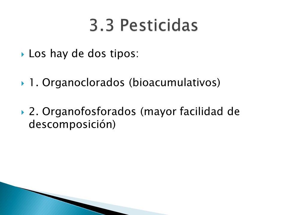 3.3 Pesticidas Los hay de dos tipos: