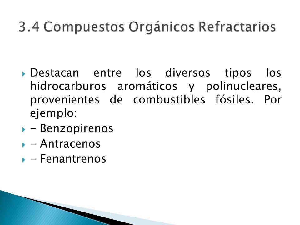 3.4 Compuestos Orgánicos Refractarios